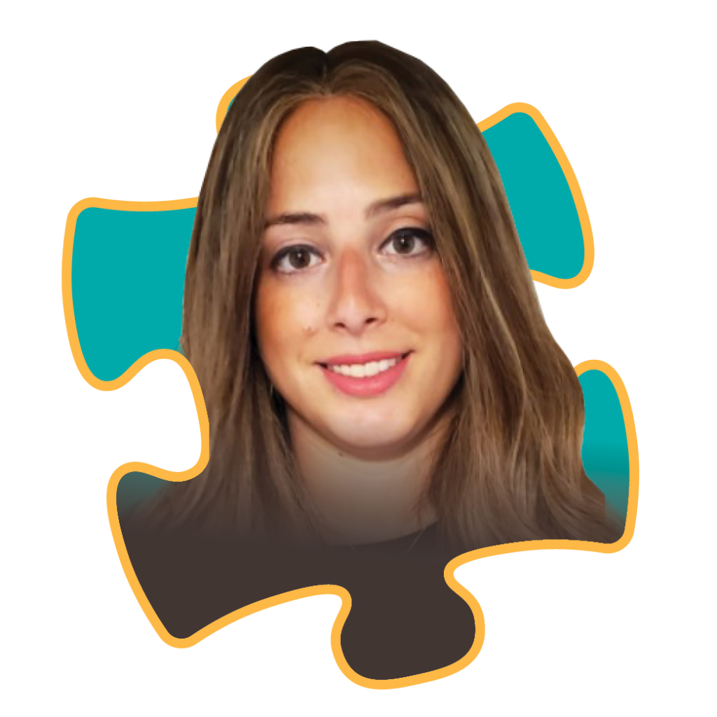 Headshot of Leah Gross, OTR/L, Founder & Director of Circle Care, on a Puzzle Piece
